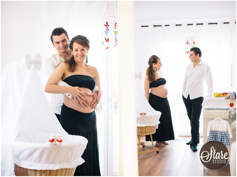 Schwangerschaftsfotos zu Hause