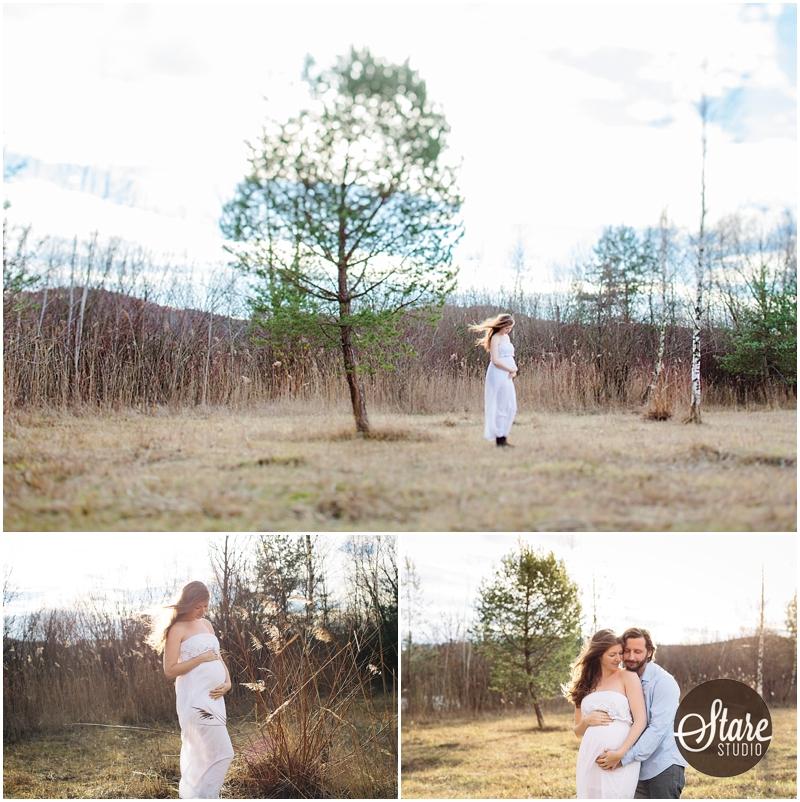 Schwangere Fotografin