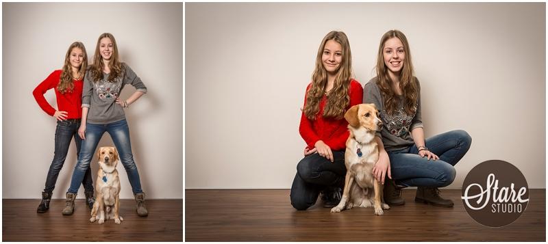 Fotoserie Geschwisterbilder Studiofotos mit Hund, StareStudio Wörth an der Isar